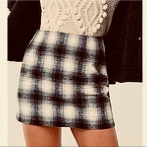 Forever 21 Black and White Plaid Skirt